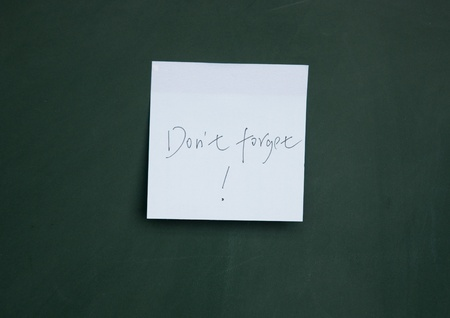 not to forget: do not forget note