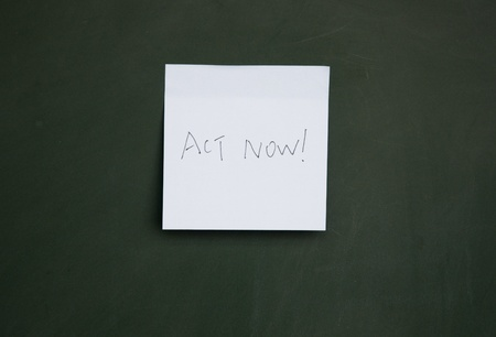 reanimation: act now note Stock Photo