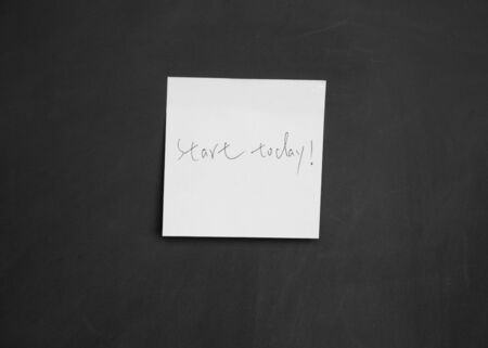start today note Stock Photo - 13010883