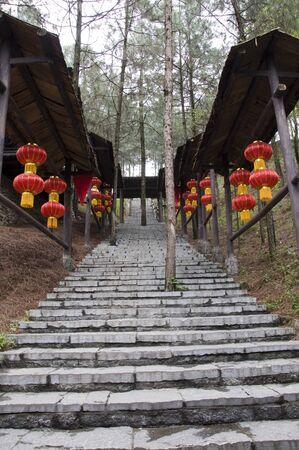 Chinese village stone road Stock Photo - 13153161