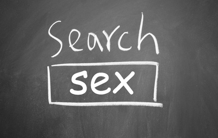 sex search web interface  drawn with chalk on blackboard photo