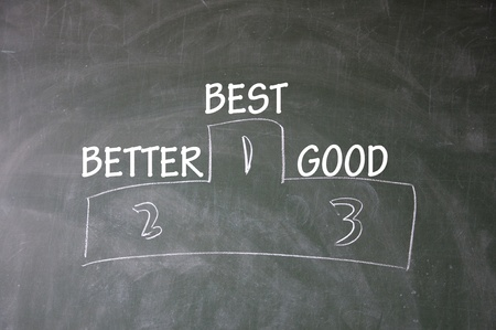 best、better and good ranking photo