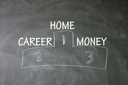home, career and money Ranking Stock Photo - 13651192