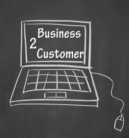 business to customer symbol photo