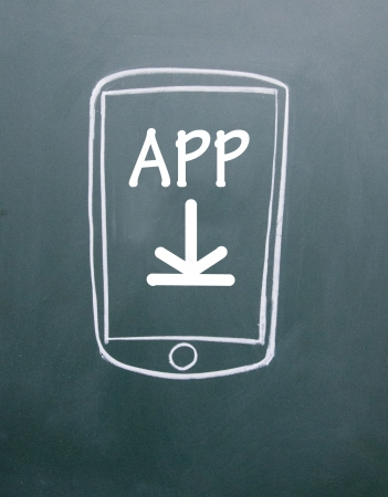 app download to mobile phone Stock Photo - 13680098
