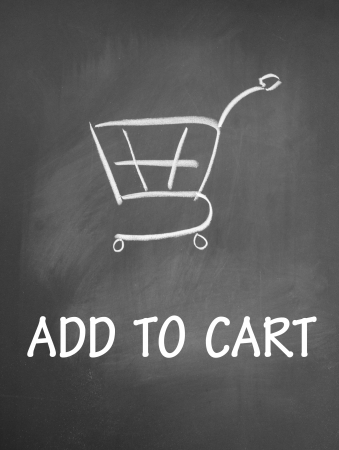 add to cart and shopping chat  symbol photo