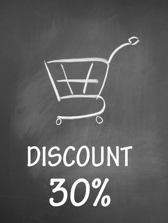 discount 30  and shopping chat  symbol photo