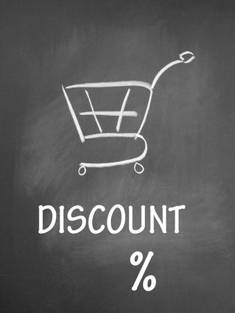 割引: 割引とショッピングのチャットのシンボル