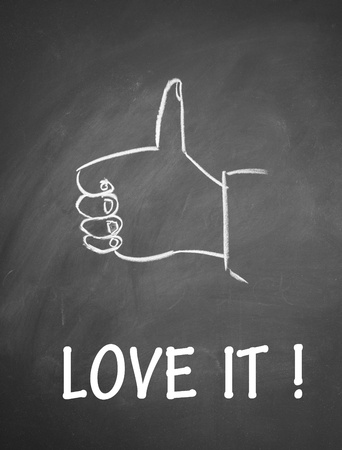 love  it and thumb up symbol Stock Photo - 13712222