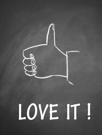 dislike it: love  it and thumb up symbol
