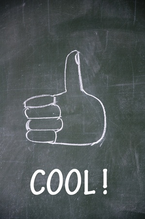 cool  and thumb up symbol photo