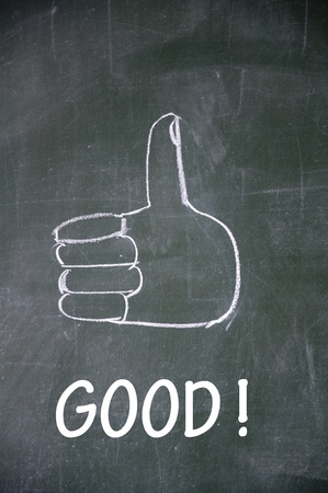 good  and thumb up symbol Stock Photo - 13712253