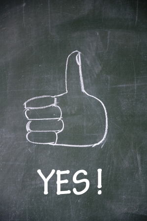 yes  and thumb up symbol  Stock Photo - 13712257