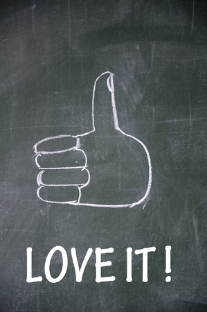 love  it and thumb up symbol Stock Photo - 13712265
