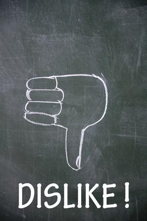 dislike and thumb down symbol  photo
