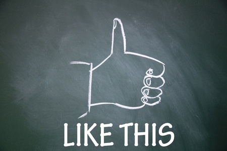 like this and thumb up symbol Stock Photo - 13712260