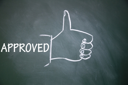approved and thumb up symbol Stock Photo - 13712283