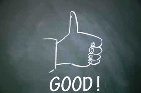 commend: good  and thumb up symbol