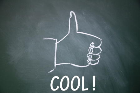 cool  and thumb up symbol Stock Photo - 13712267