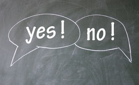post scripts: yes and no chat symbol  Stock Photo