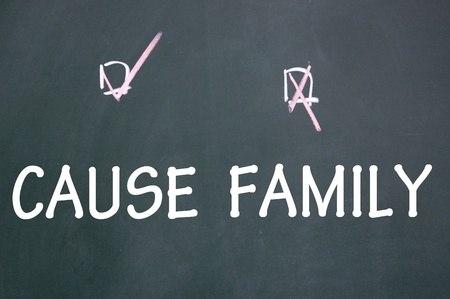 family or cause choice Stock Photo - 13712197