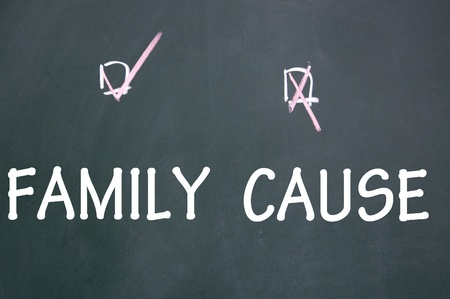 family or cause choice Stock Photo - 13712210