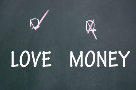 love or money choice Stock Photo - 13712195