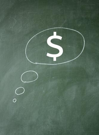 dollar and imagine symbol Stock Photo - 13745599