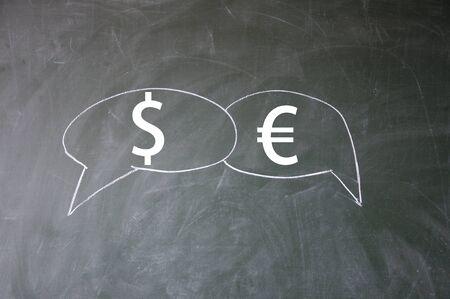 dollar and euro symbol  photo