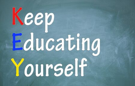keep educating yourself symbol photo