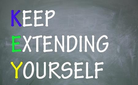 extending: keep extending yourself symbol