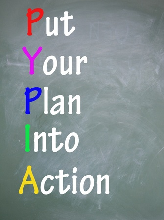 put your plan into action title  photo