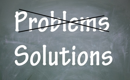 solve problems: solutions without problems symbol