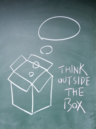 think outside the box symbol Stock Photo - 13833851