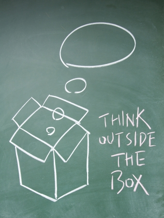 think outside the box symbol Stock Photo - 13833845