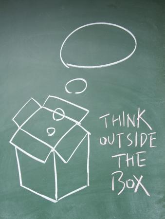 think outside the box symbol Stock Photo - 13833845