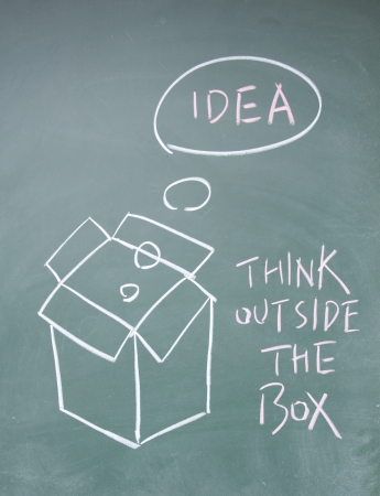 think outside the box symbol Stock Photo - 13827507