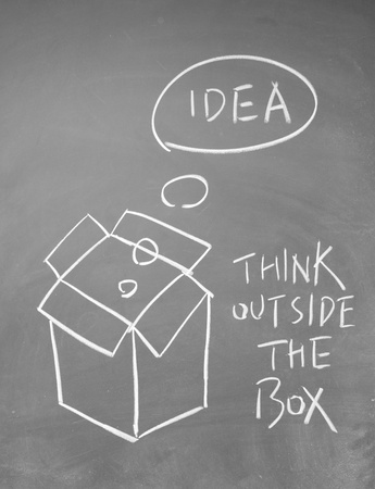 think outside the box symbol Stock Photo - 13827541
