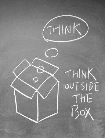 think outside the box symbol Stock Photo - 13833839