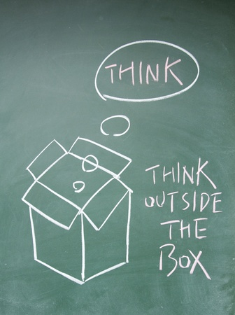 think outside the box symbol photo
