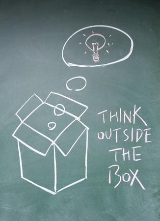 think outside the box symbol Stock Photo - 13833850
