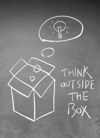 think outside the box symbol Stock Photo - 13833848