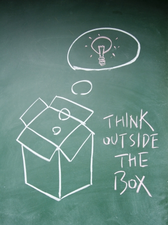 think outside the box symbol Stock Photo - 13833852