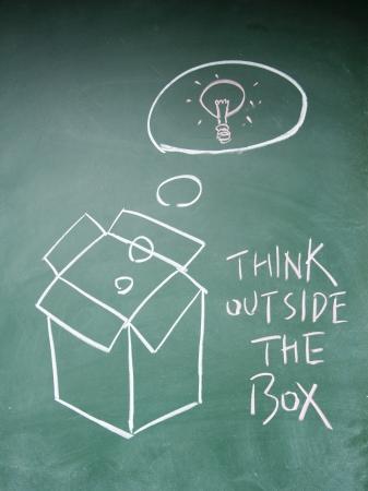 think outside the box symbol Stock Photo - 13833852