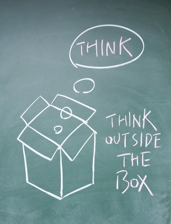 think outside the box Stock Photo - 13830935