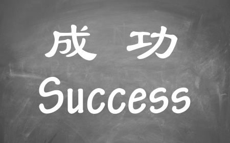 success word in Chinese and English  photo