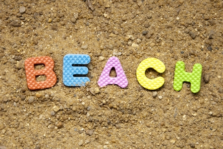 beach symbol and sand background photo