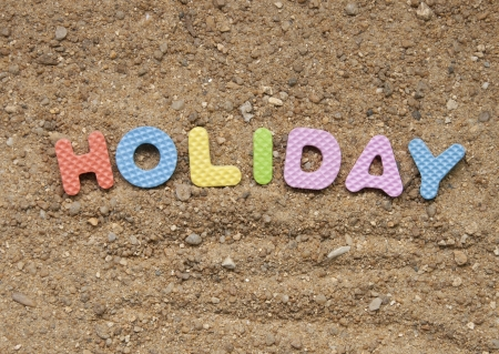 holiday symbol and sand background photo