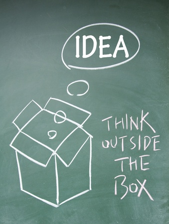 think outside the box symbol Stock Photo - 13851833