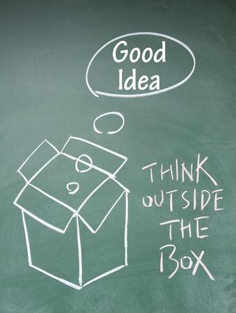 think outside the box symbol Stock Photo - 13851834
